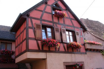 Meublé de Lucien Meyer, Hattstatt, Pays de Rouffach, Vignobles et Châteaux, Haut-Rhin,Alsace