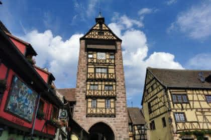 Musée du Dolder dans la tour de guet (1291).  @Société d'Archéologie de Riquewihr.